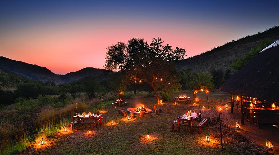 Boma Dinner Experience under the stars at Bakubung Bush Lodge