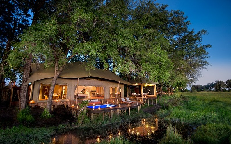 Duba Plains Camp, Okavango Delta in Botswana
