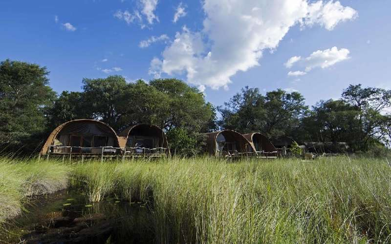 Exterior of Okuti Game Lodge